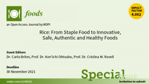 Rice: From Staple Food to Innovative, Safe, Authentic and Healthy Foods