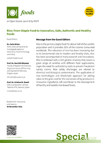 Flyer - Rice: From Staple Food to Innovative, Safe, Authentic and Healthy Foods